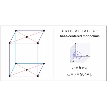 Base-centered monoclinic lattice @ Chemistry Dictionary