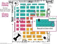 Camomile Beauty National Women's Show Vendor Map - Glossense