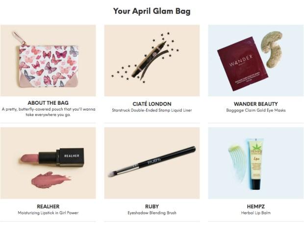 My Ipsy April 2018 Glam Bag - Glossense