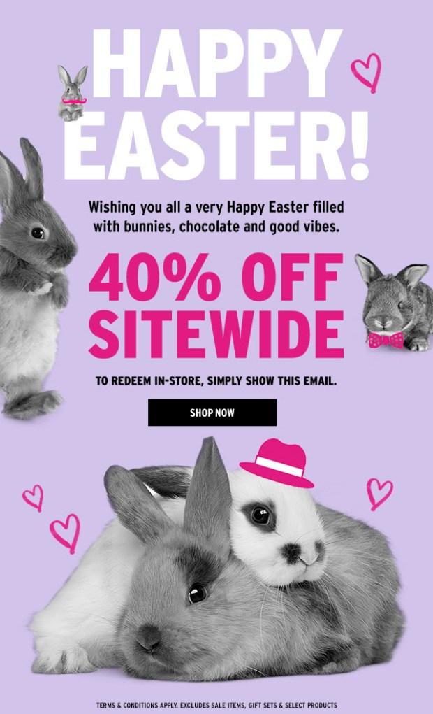 The Body Shop Canada Easter Sale 2018 - Glossense