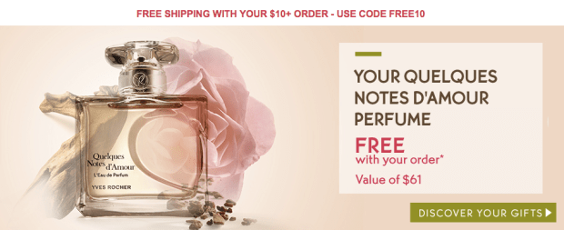 Yves Rocher Canada Quelques Notes d'Amour Free Perfume plus FREE Shipping - Glossense