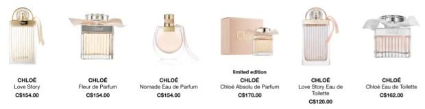 Chloe Canada Perfume Fragrance - Glossense