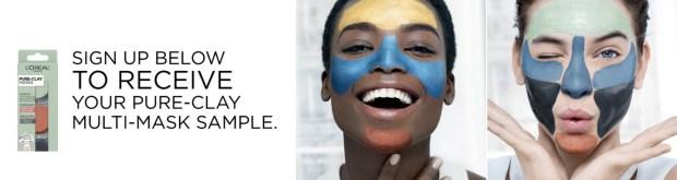 L'Oreal Canada Free Pure Clay Multi-masking Facial Mask Sample - Glossense
