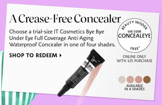 SEPHORA CANADA PROMO CODE: Free It Cosmetics Bye Bye Under Eye