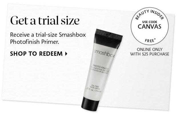 Sephora Canada Smashbox Canada Photofinish Primer CANVAS Promo Code Coupon Code - Glossense