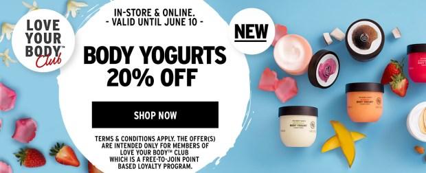 The Body Shop Canada 20 Percent Off Body Yogurts Love Your Body Member Promotion - Glossense