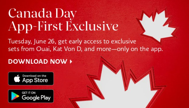 Sephora Canada Day App First Exclusive Ouai Kat Von D and more - Glossense