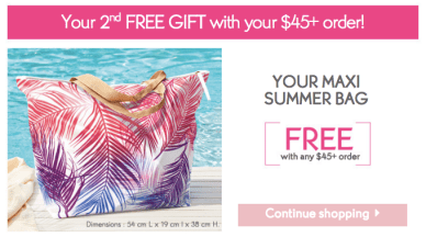 Yves Rocher Free Summer Maxi Bag Canadian Promo - Glossense