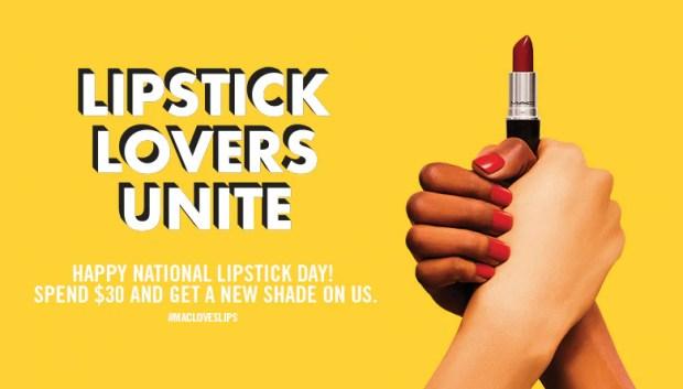 HBC Hudson's Bay Company Canada The Bay Canada Canadian Freebies Free MAC Lipstick National Free Lipstick Day July 29, 2018 2019 - Glossense