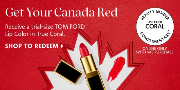 de6f6dc9caf8 Sephora Canada Get Your Canada Red Free Tom Ford Lipstick in True Coral  Promo Code Canadian