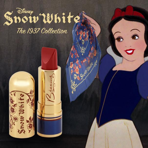 Besame Cosmetics Canada Disney 1937 Snow White Collection Buy Red Lipstick, Receive Silk Scarf - Glossense