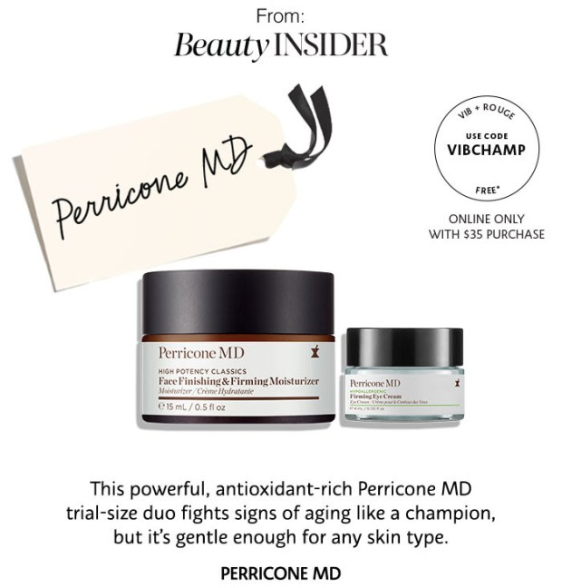 Sephora Canada Vib Rouge August 2018 Gift Perricone Md Face