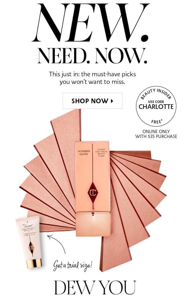 Sephora Canada Coupon Code Canadian Promo Code Free Charlotte Tilbury Wonderglow Face Primer - Glossense