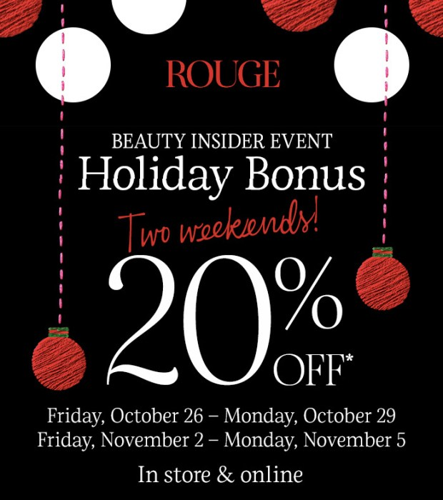 Sephora Canada Beauty Insider Insider Event Rouge Member Holiday Bonus Sale Canadian Deal Deals Save Free Sample Gift Set October November 2018 2019 - Glossense