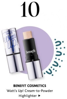Sephora Canada Canadian Promo Code 10 Days Mystery Items Day 10 Free Benefit Cosmetics Watt's Up Highlighter - Glossense