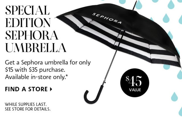Sephora Canada Special Edition Sephora Branded Umbrella Canadian Deal In Store - Glossense