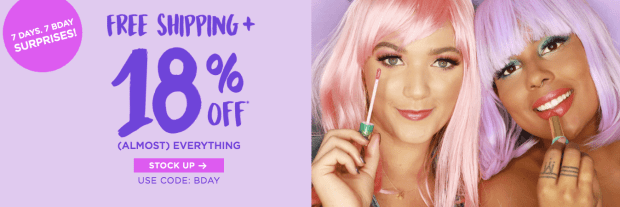 Tarte Cosmetics Canada Canadian Birthday Sale Surprises Coupon Promo Code Friday 18 Percent Off Discount 2018 - Glossense