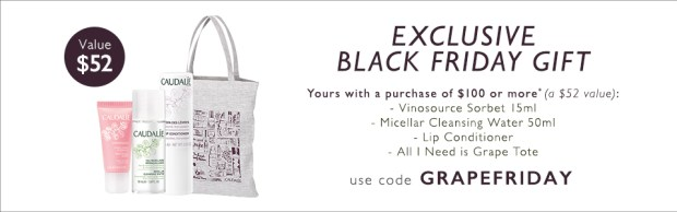Caudalie Canada 2018 Canadian Black Friday Exclusive Gift Offer Promo Coupon Code GWP - Glossense