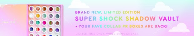 ColourPop Cosmetics Canada Canadian Black Friday Cyber Week Monday 2018 2019 New Arrivals Back in Stock Super Shock Shadow Vault - Glossense