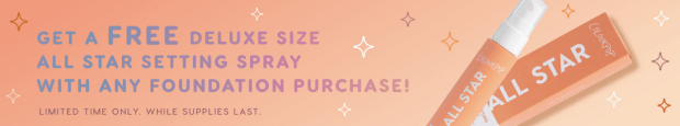 ColourPop Cosmetics Canada Free Deluxe Sample GWP Canadian Freebies Black Friday Cyber Week 2018 2019 Free Setting Spray Foundation Purchase - Glossense