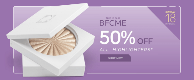 Ofra Cosmetics Canada BFCME Daily Deal Discount Save on All Highlighters 2018 Canadian Black Friday Cyber Monday Event November 18 2018 2019 - Glossense