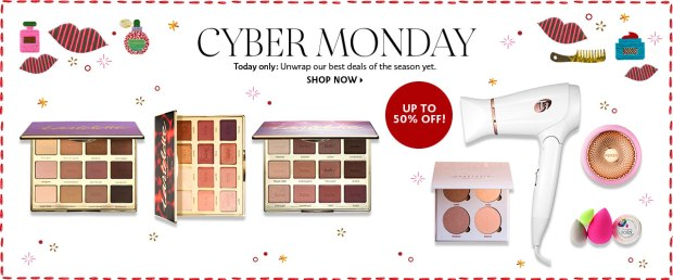 Sephora Canada 2018 Canadian Cyber Monday Week Daily Deal Deals Sale Tarte Tartelette Palettes Savings 2019 - Glossense