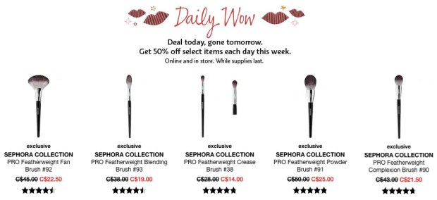 Sephora Canada Canadian Daily Wow Deal Cyber Week November 25 2018 Sephora Collection Brushes - Glossense