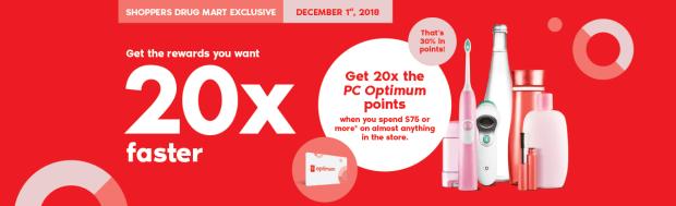 Shoppers Drug Mart Beauty Boutique SDM Canada Canadian Multiple PC Optimum Points Event December 1 2018 - Glossense