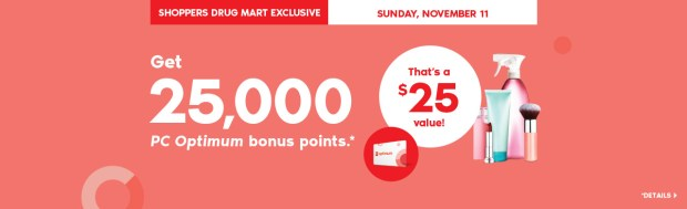 Shoppers Drug Mart Canada SDM Beauty Boutique Canadian PC Points Promo Offer Singles Day November 11 2018 2019 - Glossense