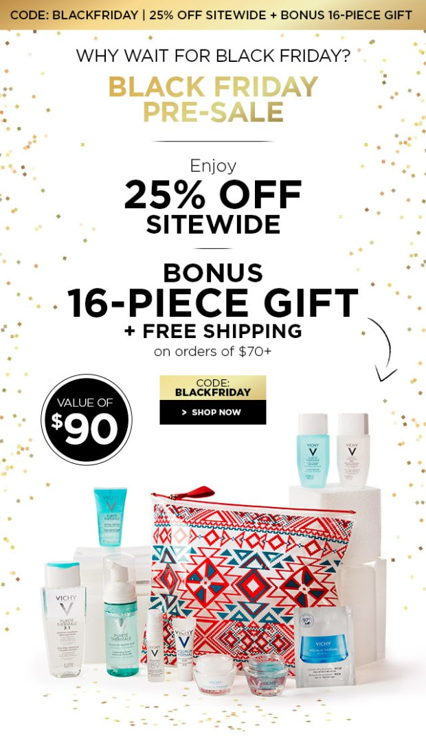Vichy Canada 2018 Canadian Black Friday Pre-Sale Deals Sale GWP Gift with Purchase 2019 - Glossense