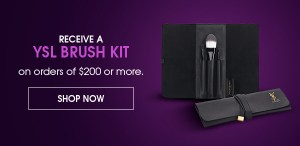 Yves Saint Laurent YSL Beauty 2018 Black Friday Canadian GWP Free YSL Brush Set Kit Collection - Glossense