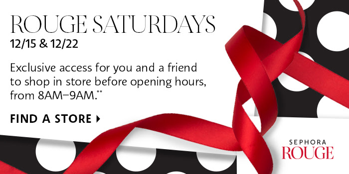 Sephora Canada Exclusive Canadian Rouge Perk Early Store Morning Access Shop Before Opening Hours 2018 - Glossense