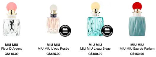 Sephora Canada Canadian Miu Miu Perfume Fragrances GWP Promo Code - Glossense