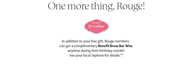Sephora Canada 2019 Birthday Gift Canadian Free Birthday Gifts Free Benefit Cosmetics Brow Bar Wax Beauty Insider Rouge Exclusive Rouge Members - Glossense