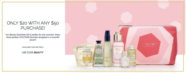 L'Occitane Canada Beauty Canadian Coupon Codes 2019 Promo Code Be Mine Gift Set Valentine's Day Offer January February - Glossense