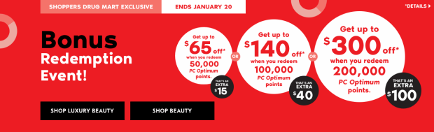 Shoppers Drug Mart Beauty Boutique SDM Canada Super Spend Your Canadian PC Optimum Points Redemption Event January 19 20 2018 - Glossense