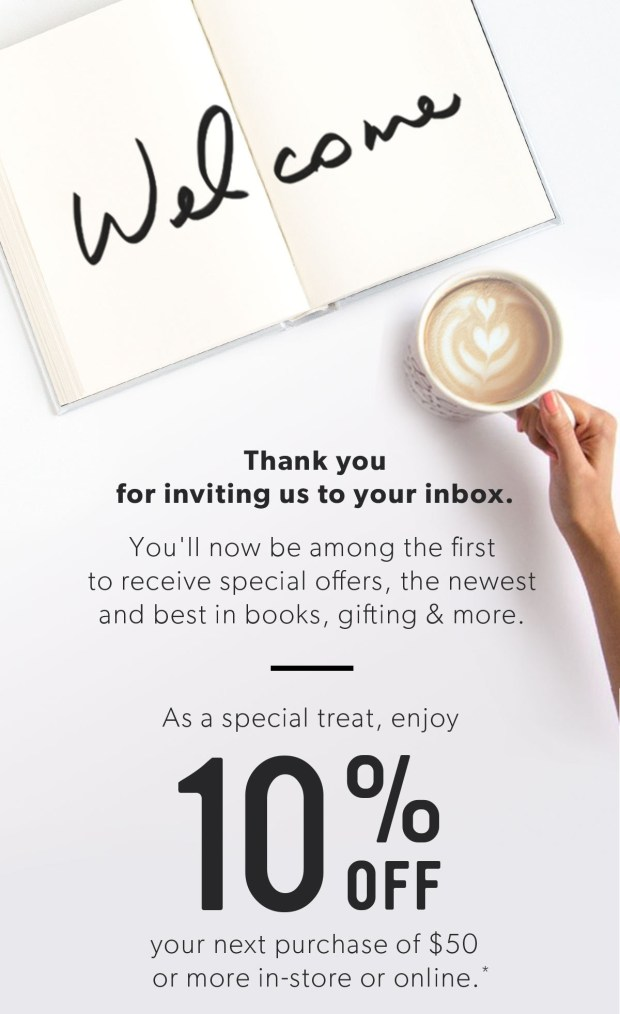 Indigo Chapters Canada Subscribe to Newsletter & Receive Sign-Up Offer Save 10 Off 50 In-store Online Canadian Coupon Offer Savings Discount - Glossense