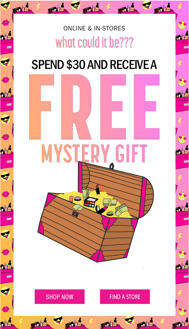 NYX COSMETICS CANADA: Spend $30 & Receive Free Mystery Gift