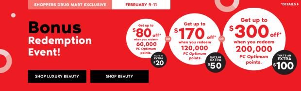 Shoppers Drug Mart Beauty Boutique SDM Canada Super Spend Your Canadian PC Optimum Points Redemption Event February 9 11 2019 - Glossense
