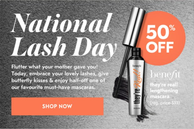 Shoppers Drug Mart Canada Benefit Cosmetics National Lash Day 2019 Half Off Mascara 50 Off They're Real - Glossense