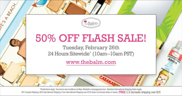 TheBalm The Balm Cosmetics Canada Canadian Flash Sale Half Off 50 Percent Off Canadian Deals Sales - Glossense