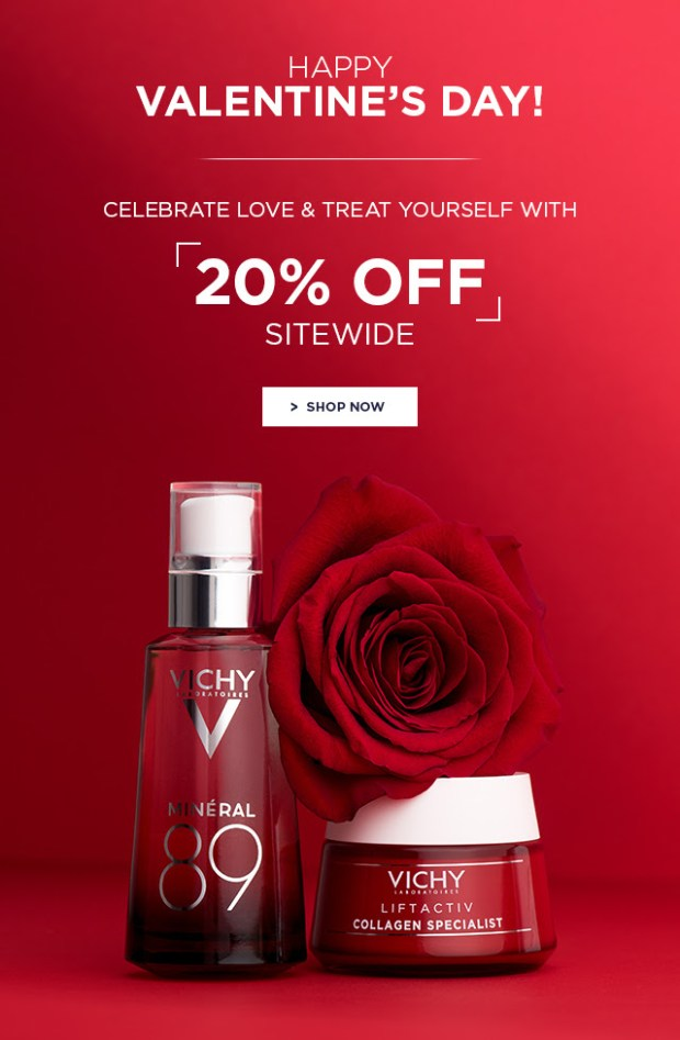Vichy Canada 2019 Canadian Valentine's Day Deals Sale Promotion Cash Back Hot Bonus Love Special - Glossense