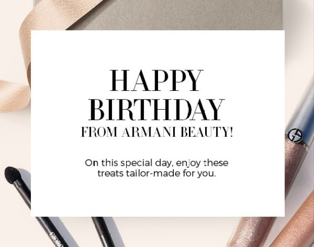 Giorgio Armani Beauty Canada 2019 Canadian Free Birthday Gift Set with Purchase GWP Makeup Lipstick Bag
