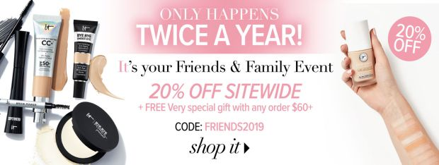 IT Cosmetics Canada Friends and Family Sale Event Canadian Beauty Deals Promo Code Coupon Offer GWP Free Gift with Purchase 2019 - Glossense