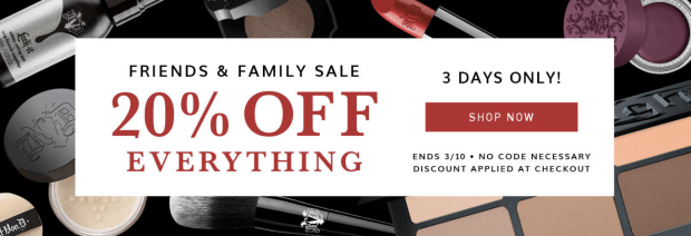 Kat Von D KVD Beauty Canada Friends and Family Canadian Sale Event Spring March 8 9 10 2019 20 Percent Off Canadian Deals - Glossense