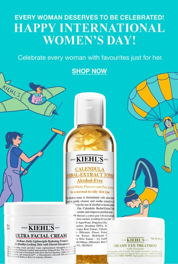 Kiehl's Since 1851 Canada Canadian Deals Loyalty Rewards Points Offer 2x Double International Women's Day - Glossense