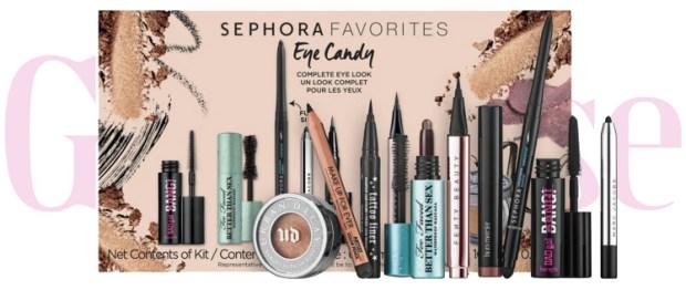 Sephora Canada Favorites Set Kit Canadian Favourites Favorite Favourite Beauty Eye Candy Set Eye Makeup Mascara Liner Shadow Collection - Glossense
