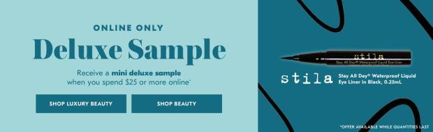 Shoppers Drug Mart SDM Beauty Boutique Canada 2019 Canadian Freebies Deals GWP Free Stila Stay All Day Waterproof Liquid Liner Makeup Mini Deluxe Sample - Glossense