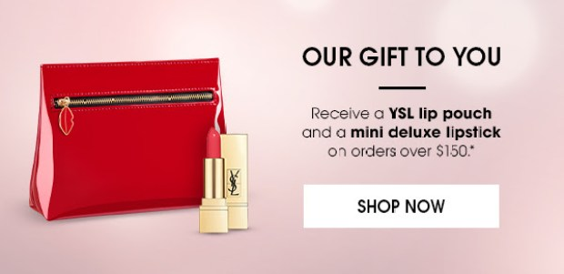 Yves Saint Laurent Canada YSL Beauty Canadian International Women's Day 2019 Deals Sale Free GWP Gift with Purchase Makeup Bag Free Lipstick Promo Code Coupon Code Offer Discount Savings 2 - Glossense