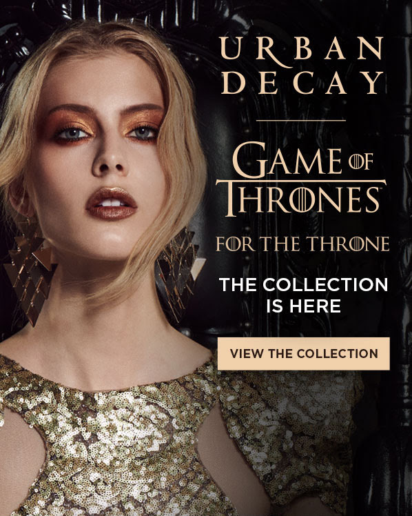 Beauty by Shoppers Drug Mart Canada SDM Beauty Boutique Canadian New Arrival New Release Urban Decay Game of Thrones Collection Makeup For The Throne Eyeshadow Palette Lipstick - Glossense
